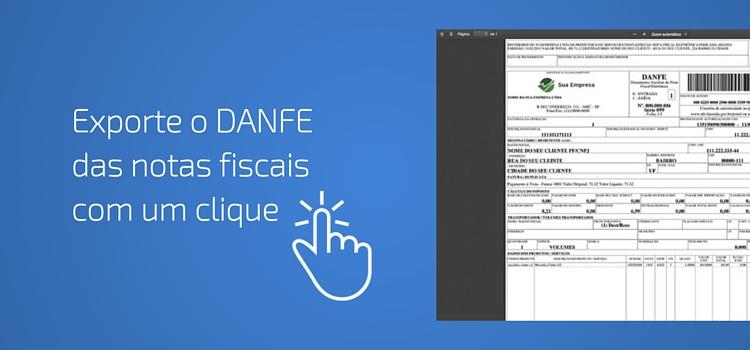 Exporte o DANFE de todas as notas fiscais com um clique