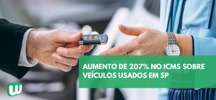 Aumento de 207% no ICMS sobre veículos usados em SP
