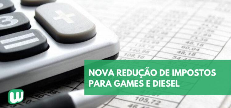 Presidente anuncia nova redução de impostos para Games e Diesel